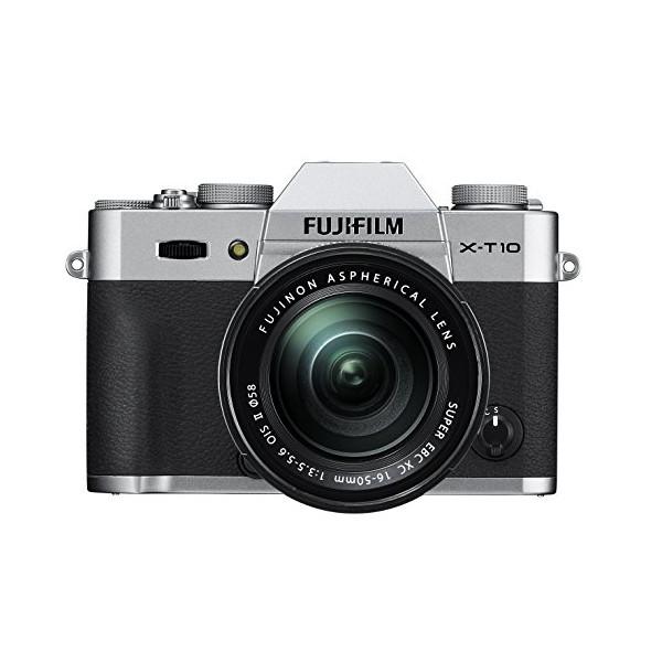 Fujifilm X-T10 OIS II Silver Mirrorless Camera Kit with XC 16-50mm F3.5-5.6 Lens