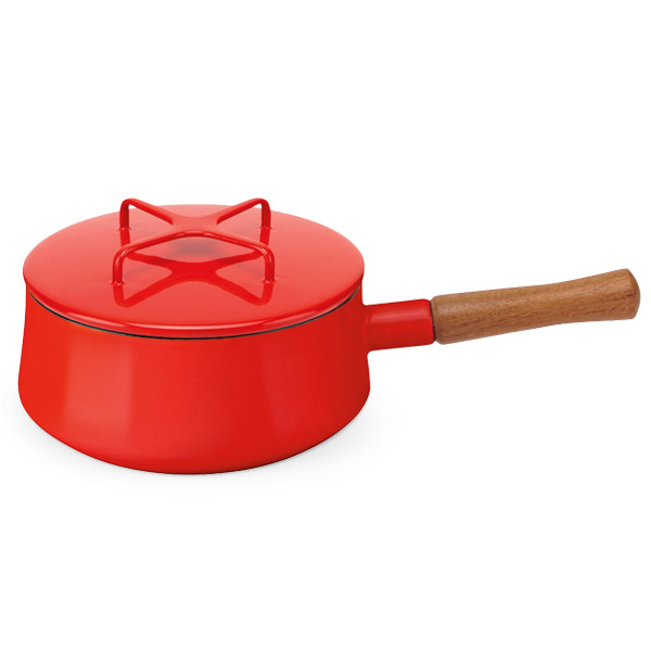 Dansk Kobenstyle 2qt Sauce Pan, Chili Red
