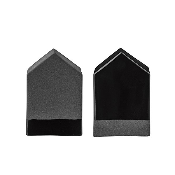2 Dekohäuser Mat &Shiny Black