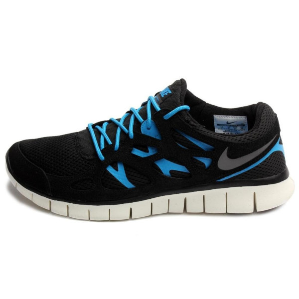 Nike Mens Free Run 2 Black/Black-Blue Hero 537732-002 15
