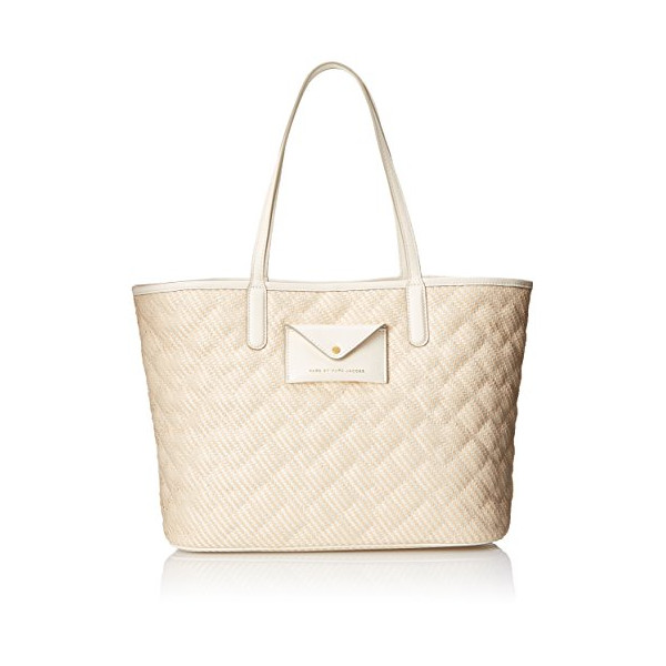 Marc by Marc Jacobs Metropolitote Straw 48 Tote, Leche, One Size