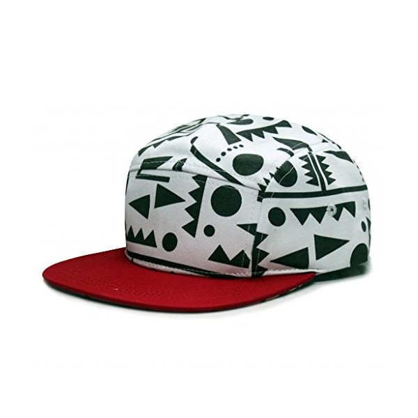City Hunter Cn320 Diagram 5 Panel Biker Hat ( Dark Grey/red )