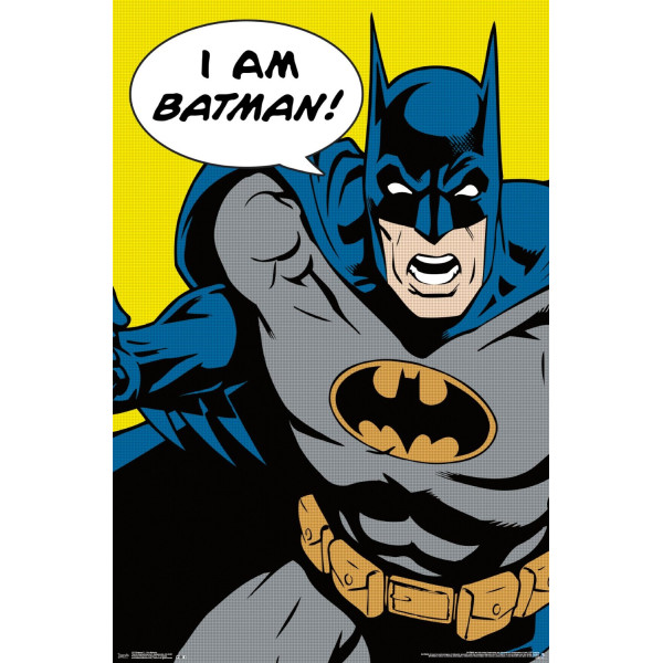 Trends International Batman I am Batman Rolled Poster, 22 by 34-Inch