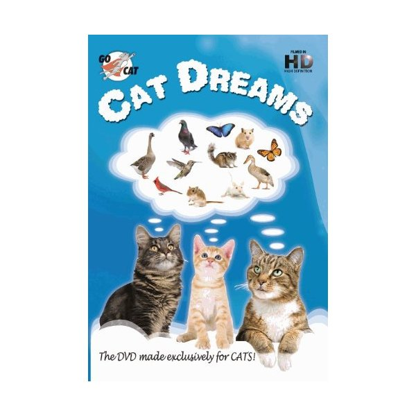 "Gocat ""Cat Dreams"" DVD for Cats Plus Bonus Organic Meowee Wowee Catnip"