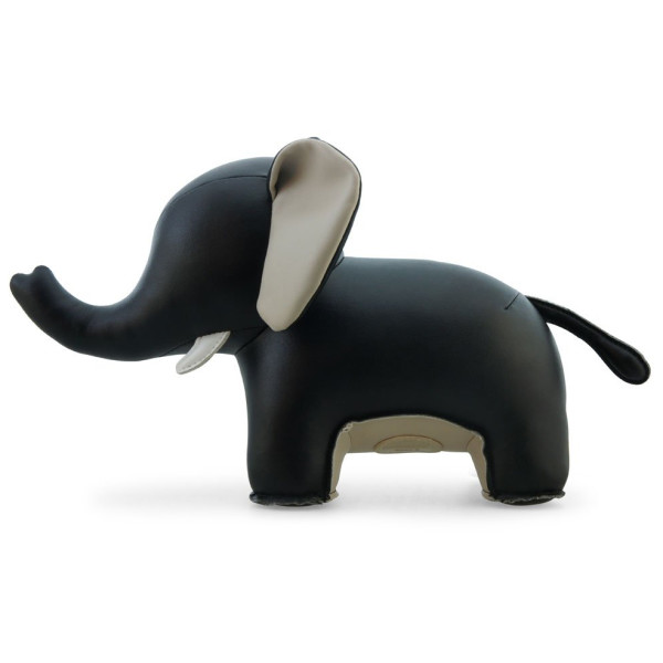 Zuny Series Elephant (Abby II) Black Animal Bookend