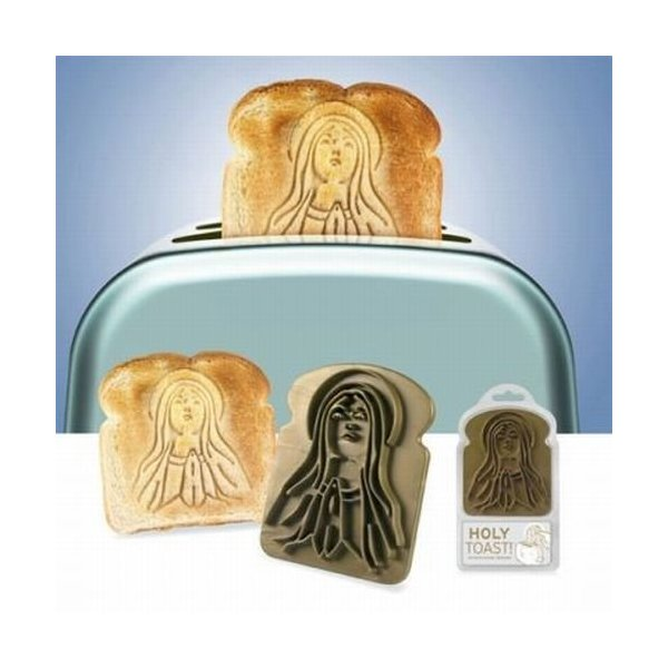 Holy Toast Miracle Bread Stamper Virgin Mary Mother Novelty Gift Fred & Friends
