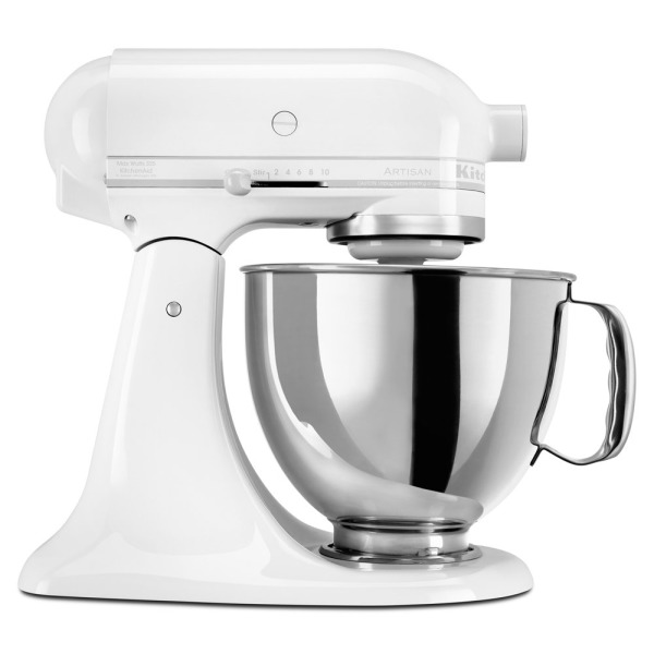 KitchenAid Artisan Series 5-Qt. Stand Mixer with Pouring Shield, White On White