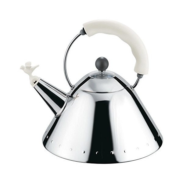 Alessi Signature 9093 Kettle By Michael Graves, Super White