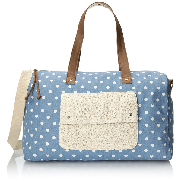 Wild Pair Printed Dot Weekender Duffle Bag, Blue