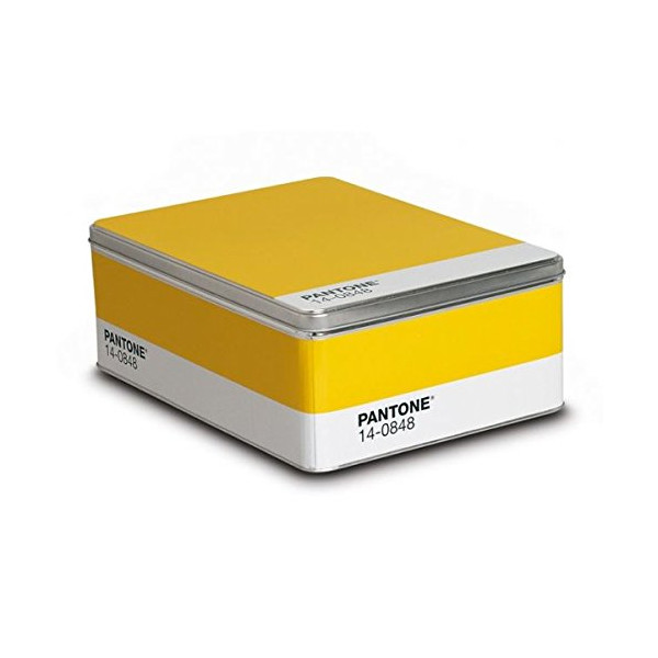 Pantone Metal Storage Box Mimosa