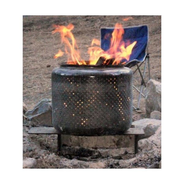 Portable Fire Pit Tub for Backyard, Camping, Beach, Hunting and More. Made from Recycled Washing Machine Tub. Durable and Easy to Take Anywhere!