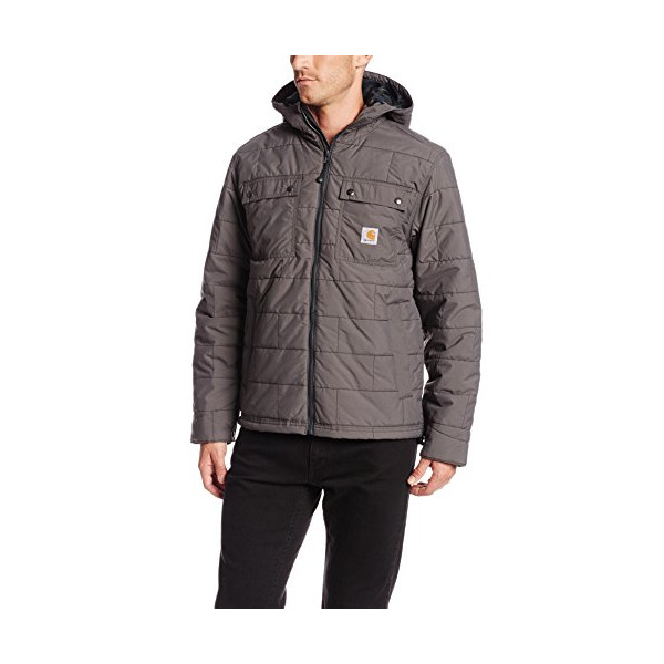 Carhartt Men's Brookville Quilted Nylon Jacket,Gravel,Large