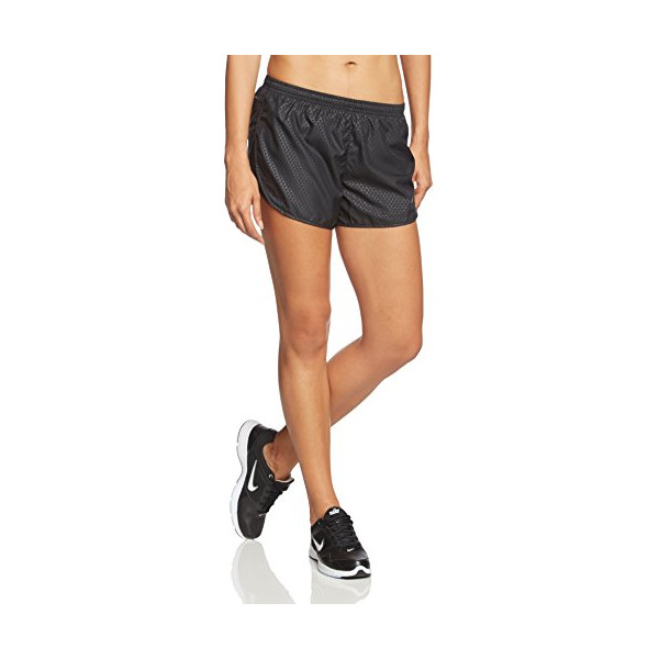 NIKE Modern Tempo Embossed Ladies Running Shorts, Black, L
