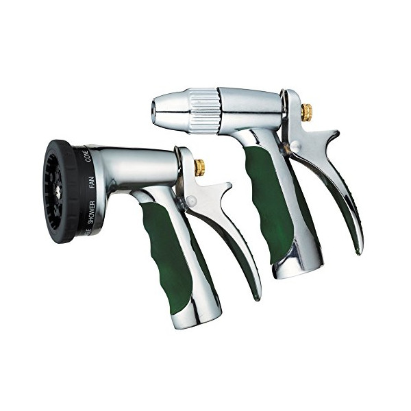 JOKOBI Spray Nozzle, Heavy Duty Durable 9 Function Adjustable High Grade Metal, Tough Metal Trigger & Bonus Spray Gun