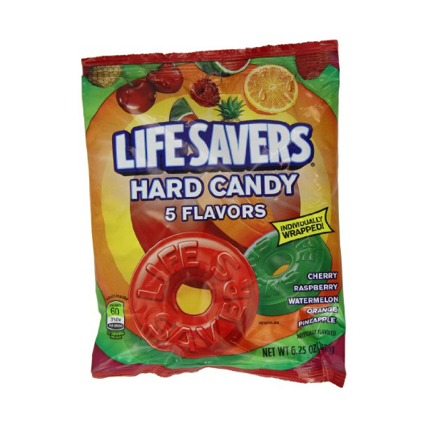 Lifesavers 5 Flavours Hard Candy Bag 177 g (Pack of 2)
