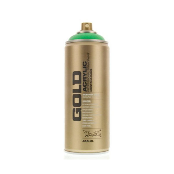 Montana GOLD Acrylic Professional Spray Paint 400 ml - Acid Green Fluorescent