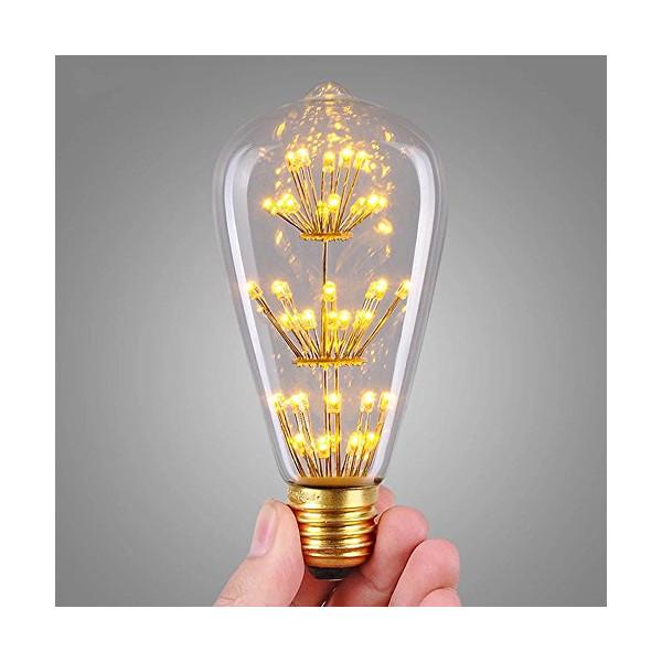 STG - 3w Decorative Vintage Edison Light Bulb Squirrel Cage Edison E27 110v Edison Teardrop Vintage Lamp