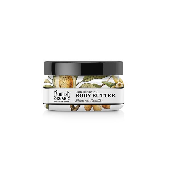 Nourish Organic Body Butter Almond Vanilla, Almond Vanilla, 3.6oz