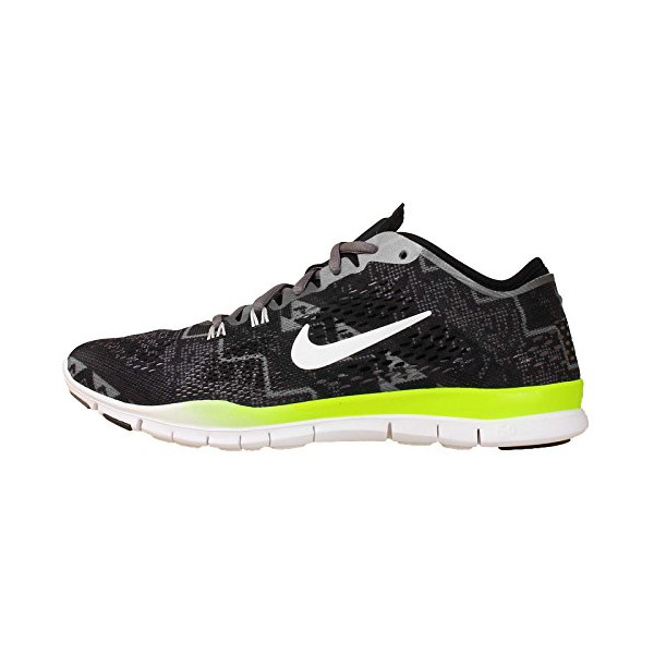 Nike Women's Wmns Free 5.0 TR Fit 4 PRT, BLACK/IVORY-LIGHT ASH-MDM ASH, 7 US