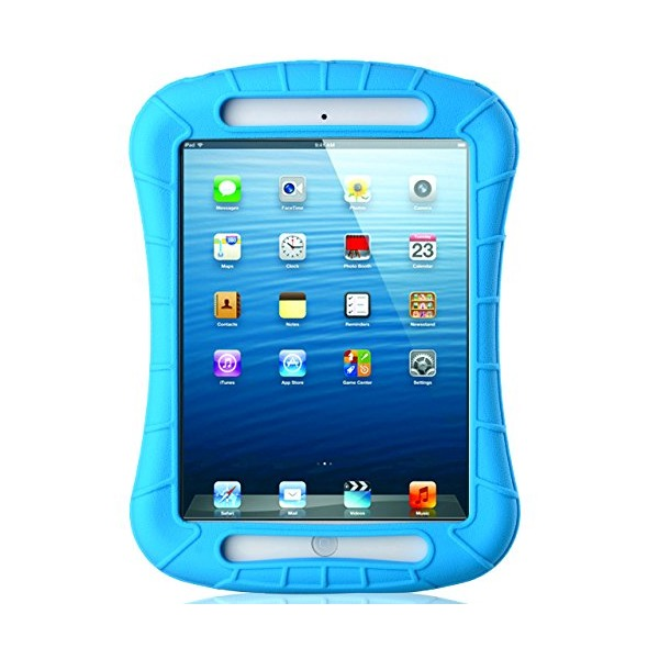 iXCC ® Shockproof Silicone Case Cover for iPad Mini, Mini 2, Mini 3, Extreme Heavy Duty [Drop Proof, Kids Proof, Shock Proof, Anti slip] High Quality Rubber Soft Gel Material Offers Robust Protection for Kids, Baby, Children, Boys and Girls [Blue]