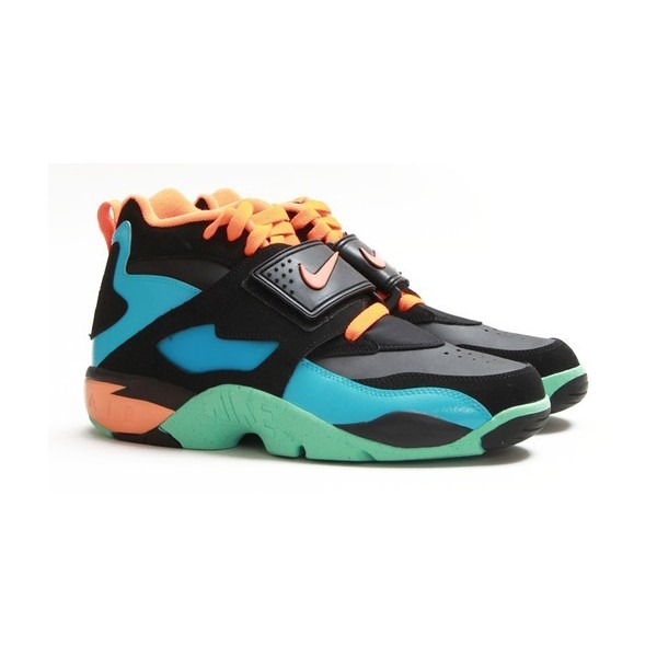 Nike Men's Air Diamond Turf, Black/Total Orange, Gamma Blue