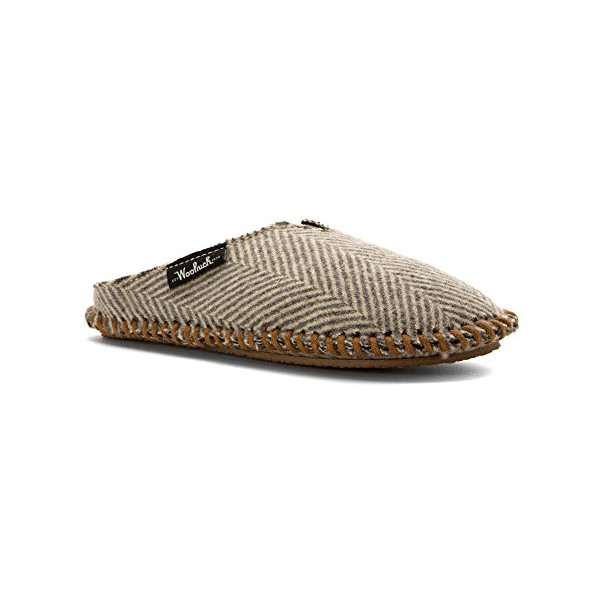 Woolrich Women's Mill Scuff Slipper, Herringbone Wool, 6 US/XS(6-7) M US