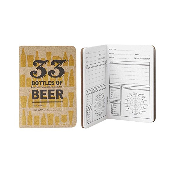 33 Bottles of Beer Tasting Note Book - Beer