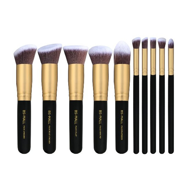 BS-MALL(TM) Premium Synthetic Kabuki Makeup Brush Set, 10 Pieces