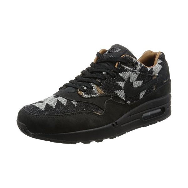 NIKE Mens Air Max 1 Pendleton QS Black/Brown Fabric Size 10