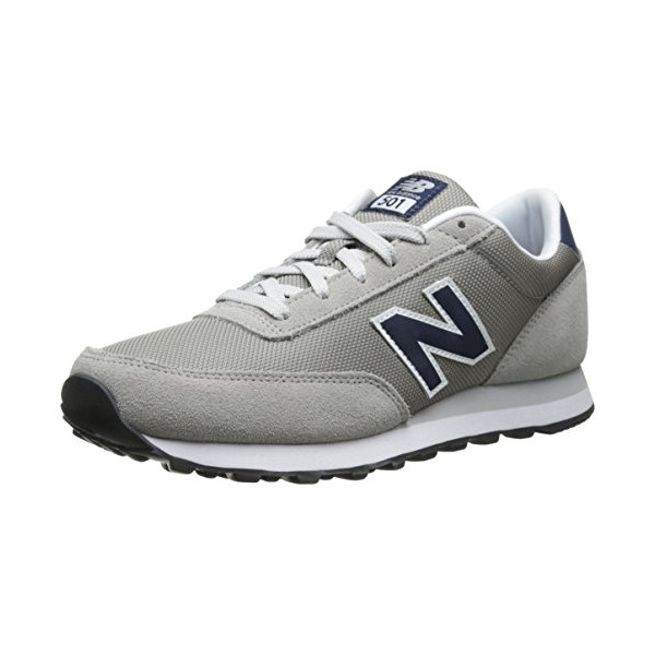 New Balance Men's ML501 Heritage Classic Running Shoe,Grey/Navy,10.5 D US