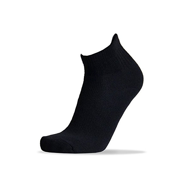 8 Pairs Pack People Socks Mens Lightweight Merino Wool Socks (Quarter, Black -8pairs)
