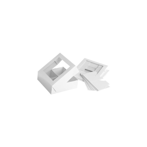 Wilton 4 Cavity White Compartment Boxes, 3 Count