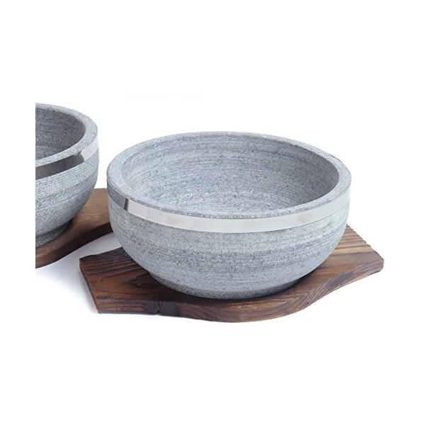 Spiceberry Home - Granite Stone Dolsot Bibimbap Bowls, Set of 2