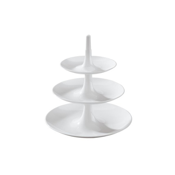 Koziol,Babell Extra Small 3181525, Indispensable White Tiered Tray, 7,8X7,8X8,66-Inch