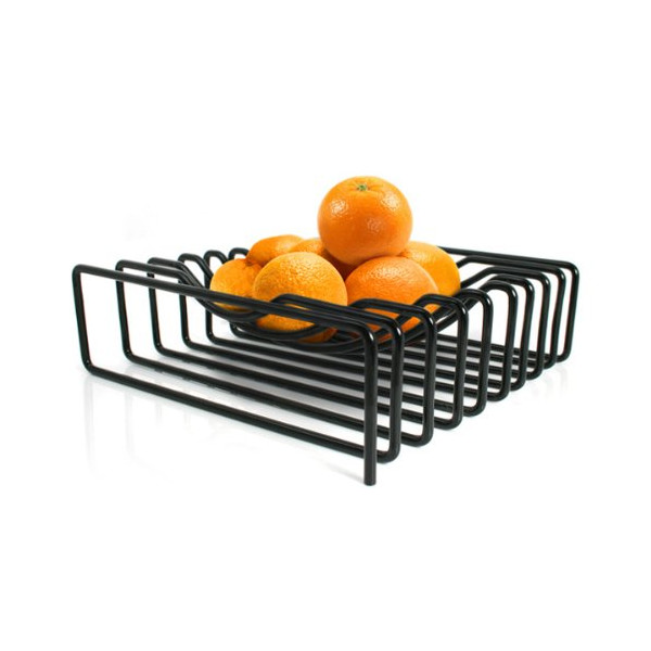 Block Wire Fruit Bowl, Black