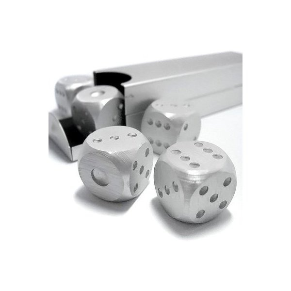 Aluminum Dice 5 in 1 Set Travel Case Deluxe Gift Souvenir