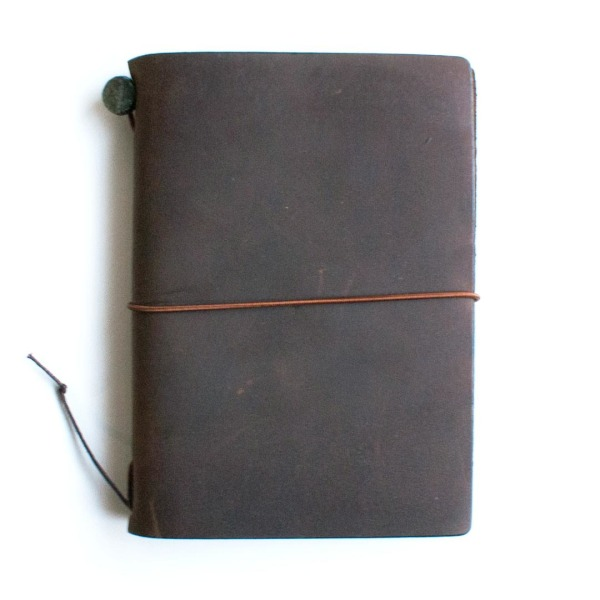 Midori Traveler's Notebook, Brown Leather