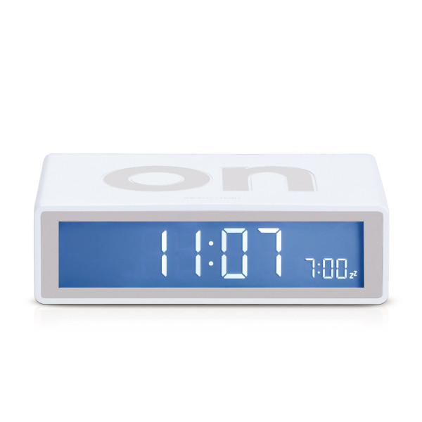 Lexon Flip On/Off Alarm Clock White