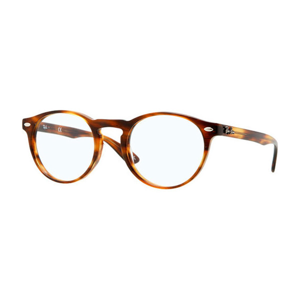 Ray-ban 5283 Eyeglasses 5139 Striped Brown Demo Lens