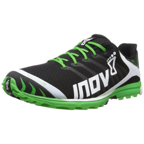 Inov-8 Men's Race Ultra 270 P Trail Running Shoe,Black/White/Green,8.5 W US