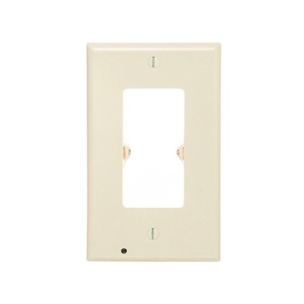 SnapRays Guidelight - Duplex Outlet Coverplate with LED Night Lights, White