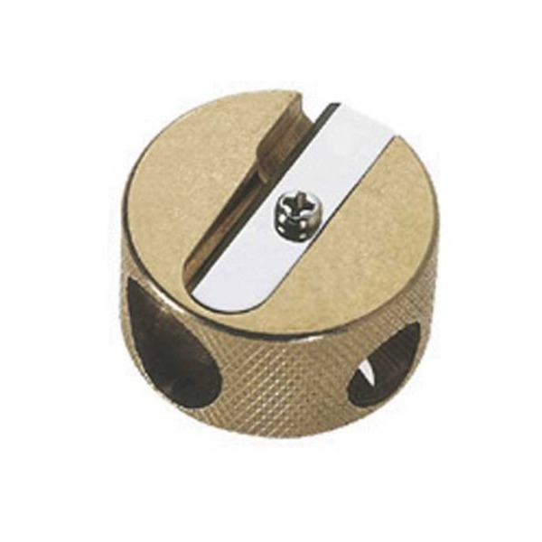 Mobius & Ruppert Brass Round Double Hole Sharpener