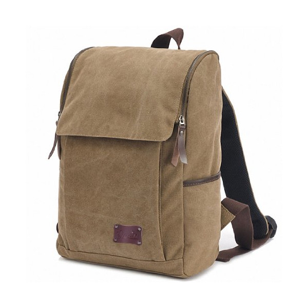 Good&god Vintage Canvas Backpack for School Laptop Messenger Bag for 14.1-inch Pc Macbook Pro Fits All Ipad Generations Including Ipad4