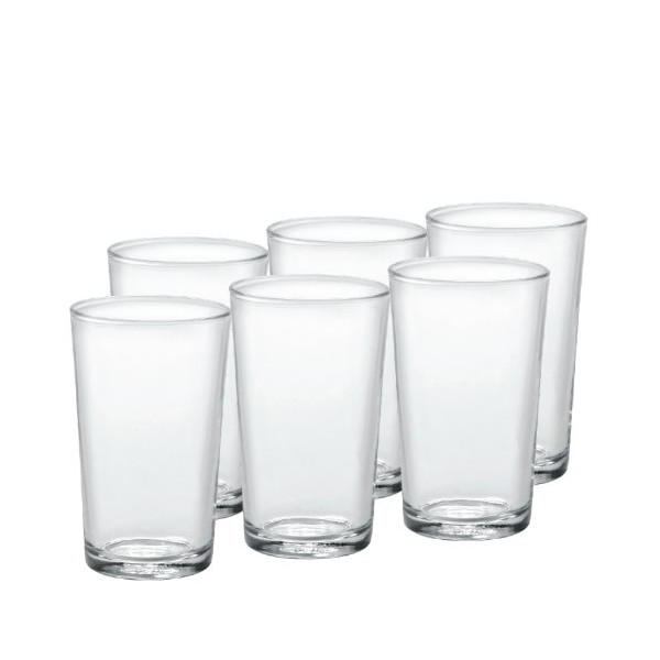 Duralex Unie Tumblers 8.75oz / 250ml - Pack of 6 | 25cl Glasses, Toughened Glasses, Tempered Glasses, Hiball Tumblers, Hiball Glasses