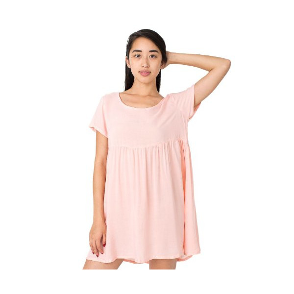 American Apparel Rayon Babydoll Dress - Blossom / M/L
