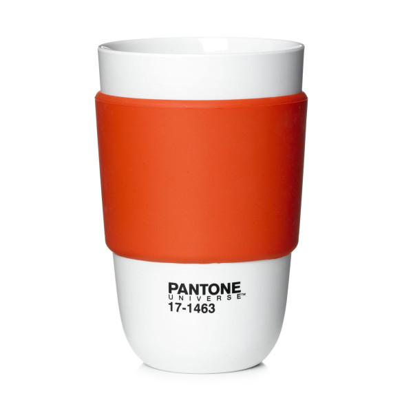 Pantone Universe Classic Cup with Silicone Band, Tangerine Tango
