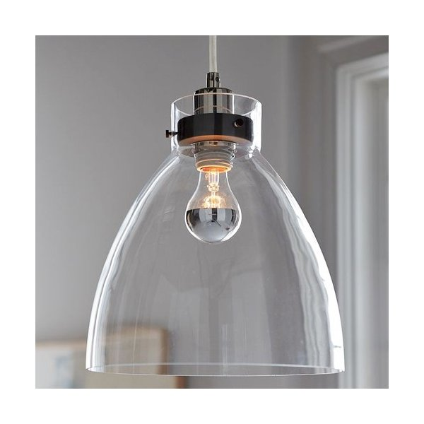 LightInTheBox® Bowl Style 60W E27 Minimalist Glass Pendent Light, Traditional/Classic Ceiling Light Fixture for Dining Room, Living Room with Bulb Included