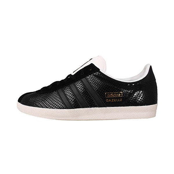 Adidas Women's Gazelle OG W, BLACK/BLACK/GOLD, 7 US