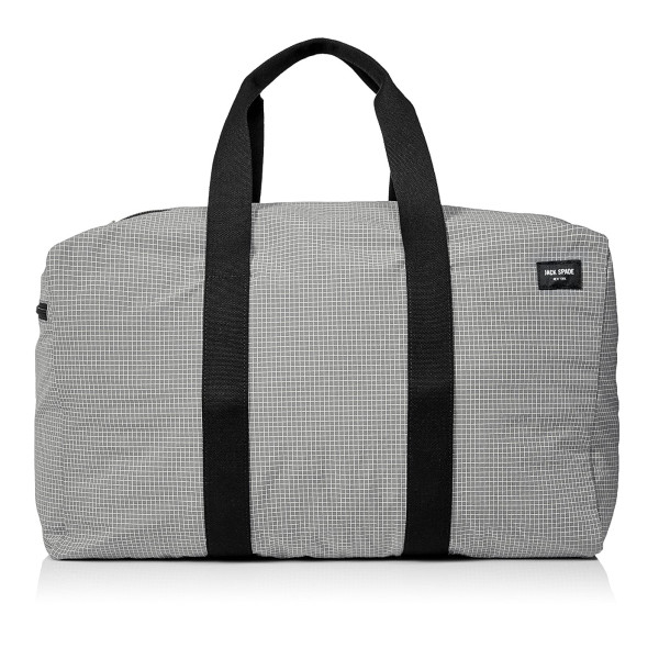 Jack Spade Packable Graph Check Duffle Bag, Grey