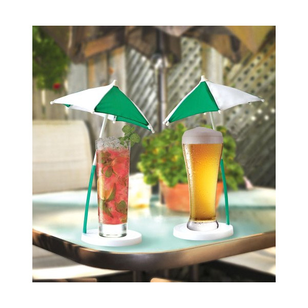 Big Mouth Toys Cocktail Umbrella and Coaster, Set Of 2